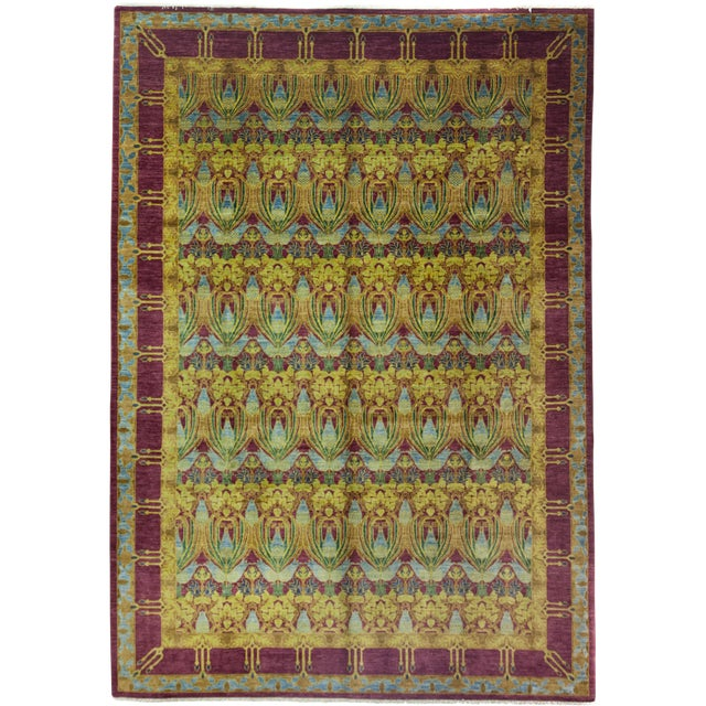 """Arts & Crafts Hand Knotted Area Rug - 9'10"""" X 13'9"""" For Sale"""
