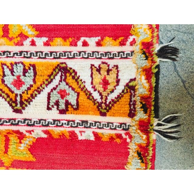 Black Moroccan Vintage Tribal Rug - 4′9″ × 6′11″ For Sale - Image 8 of 13