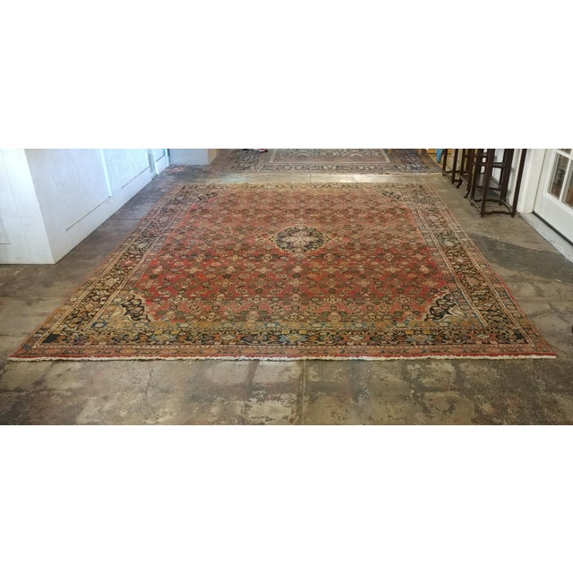 Vintage Persian Sarouk Rug- size 9x10 ft For Sale - Image 10 of 11