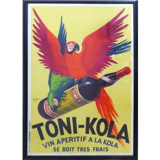 1935 French Art Deco Toni-Kola Poster For Sale