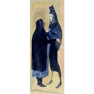 Mid 20th Century Hugh Wiley Painting Spanish Women For Sale