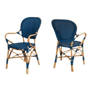 Modern Sika Design 'Isabell' Rattan Bistro Chairs - a Pair For Sale