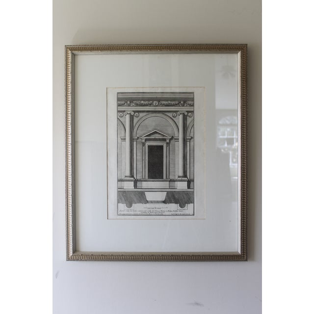 We love these architectural platinum 19th century engravings that are beautifully framed and matted perfectly for a study,...