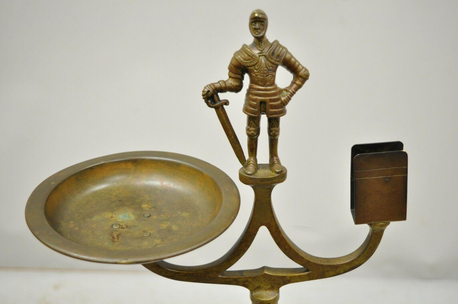 Brass Figural Tabletop Ashtray