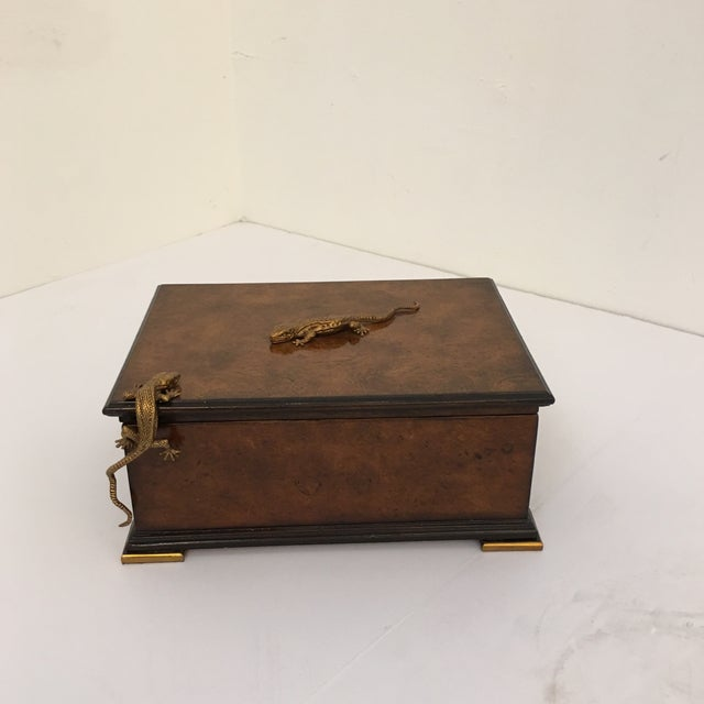 Gold Traditional Theodore Alexander Walnut Decorative Box For Sale - Image 8 of 8
