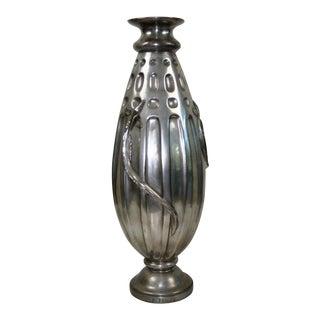 1990s Art Deco Vase by Edgar Brandt (Salamander Vase) For Sale