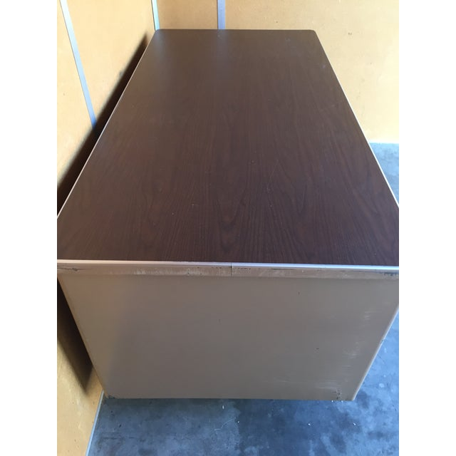 Metal Classic Vintage Tanker Desk with Post Pole Legs For Sale - Image 7 of 8