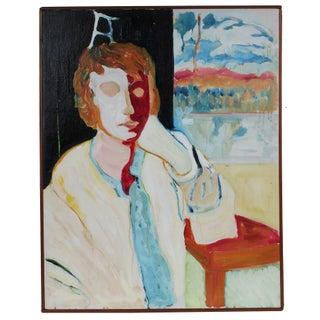 """Through a Window Lightly"" Bay Area Portrait in Oil, 1960s"