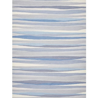 Schumacher Patterson Flynn Martin Scully Hand-Woven Wool Striped Rug - 9' X 12' For Sale