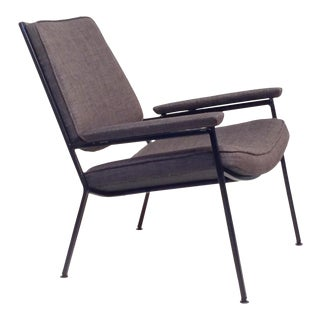 Mid-Century Modern Iron Lounge Chair For Sale
