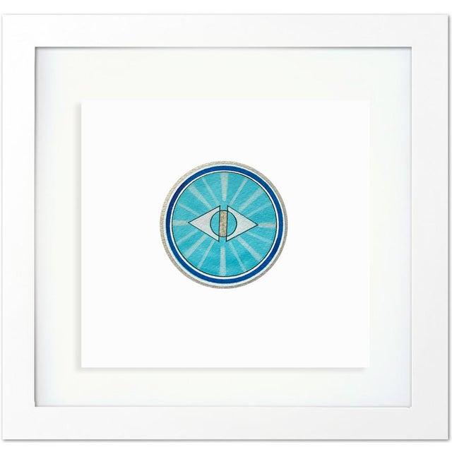 Natasha Mistry Framed Minimalist Geometric Ink Drawings - Set of 9 For Sale - Image 4 of 8