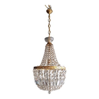 Montgolfièr Empire Sac a Pearl Chandelier Crystal Lustre Ceiling Lamp Hall For Sale