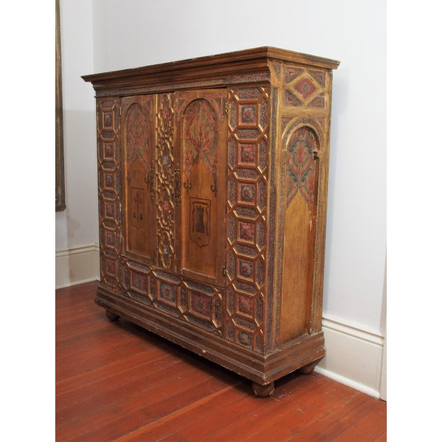 Italian Polychrome Two Door Cabinet For Sale - Image 11 of 11