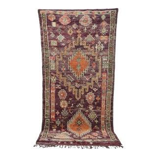 "Boujad Vintage Moroccan Rug, 6'7"" X 12'8"" For Sale"