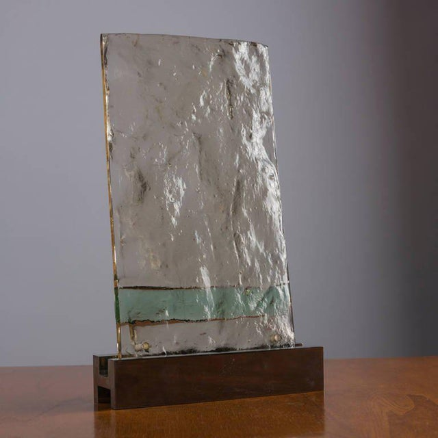 "Gio Ponti ""Vetrate Grossa"" Glass Sculpture by Gio Ponti For Sale - Image 4 of 8"