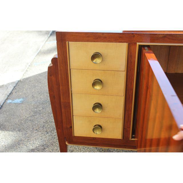 Spectacular French Art Deco Palisander And Sycamore Sideboard / Credenza Circa 1935s For Sale In Miami - Image 6 of 11