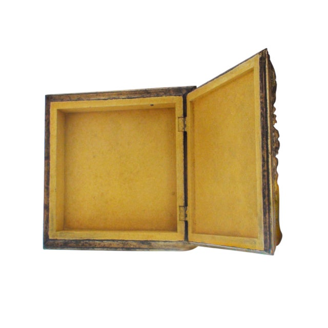 Mid-Century Modern Gilded Don Quixote Box For Sale - Image 3 of 3