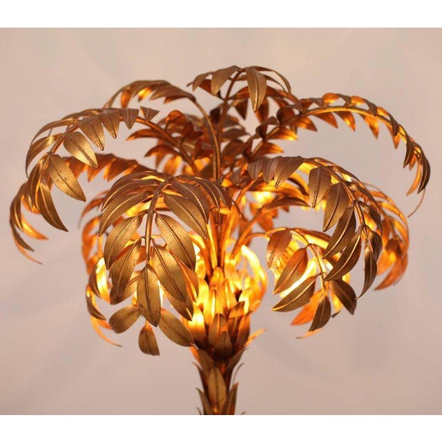 Hans Kögl Pair of Huge Matched Hans Kögl Palm Tree Floor Lamps For Sale - Image 4 of 5
