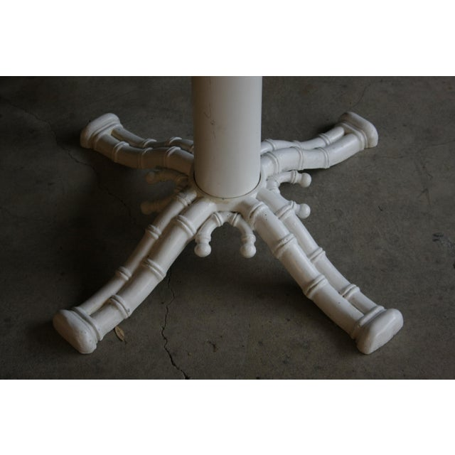 Americana Faux Bamboo White Table Base For Sale - Image 3 of 5