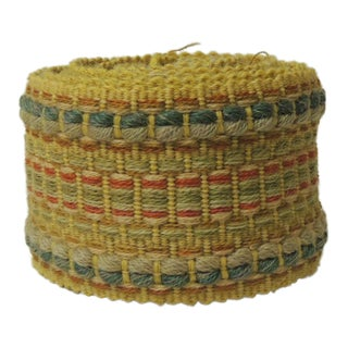 Vintage Woven Yellow and Green Turkish Decorative Trim For Sale