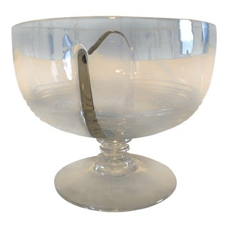 Art Deco Style Divided Crystal Dish