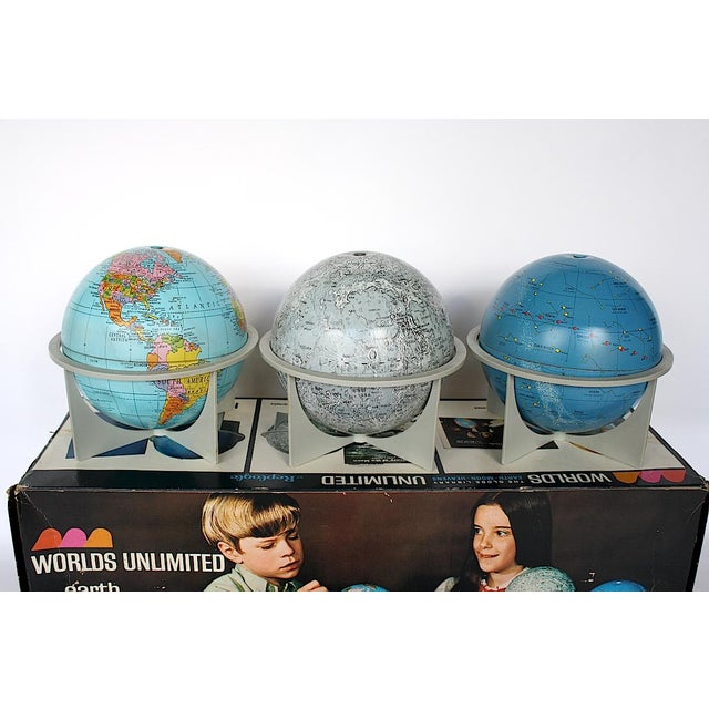 Vintage Moon Celestial Earth Globes- Set of 3 For Sale - Image 11 of 11