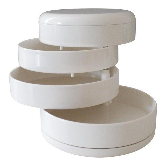 InterDesign White Plastic Desk Organizer New Old Stock Modern For Sale