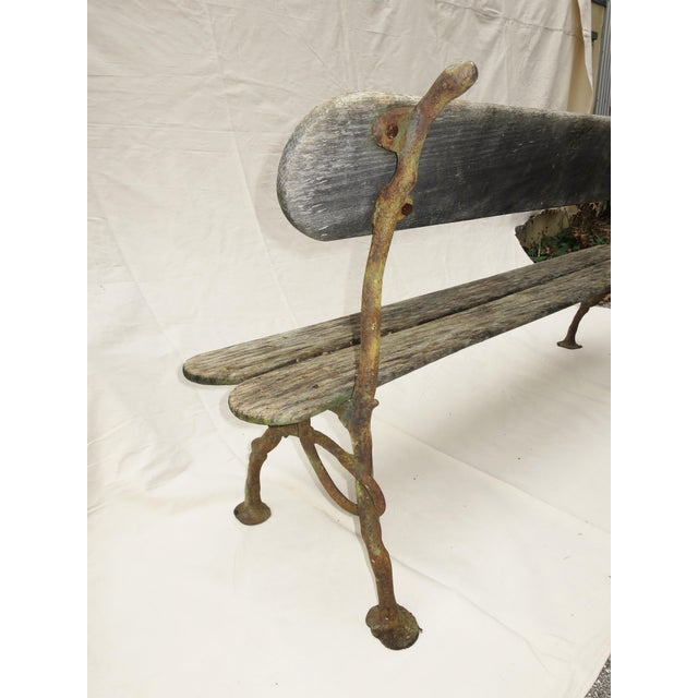 French Garden Bench, 19th Century For Sale In Washington DC - Image 6 of 9