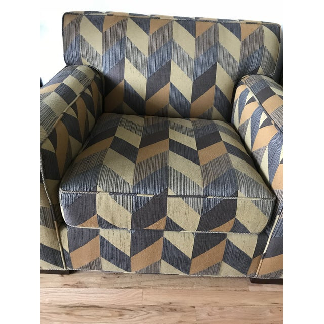 Abstract Mitchell Gold + Bob Williams Custom Arm Chair For Sale - Image 3 of 5