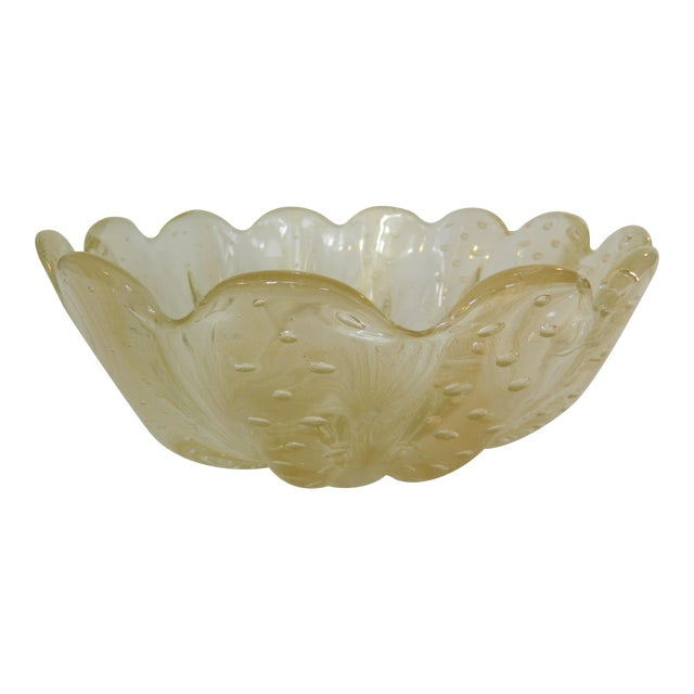 Mid-20th Century Murano Glass Bowl For Sale