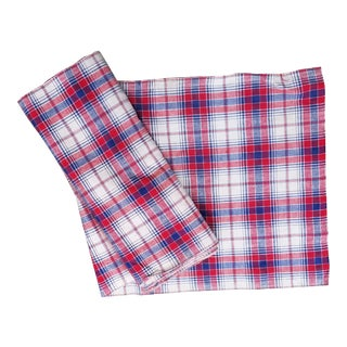 Bolt of Hand Woven Plaid Cotton For Sale