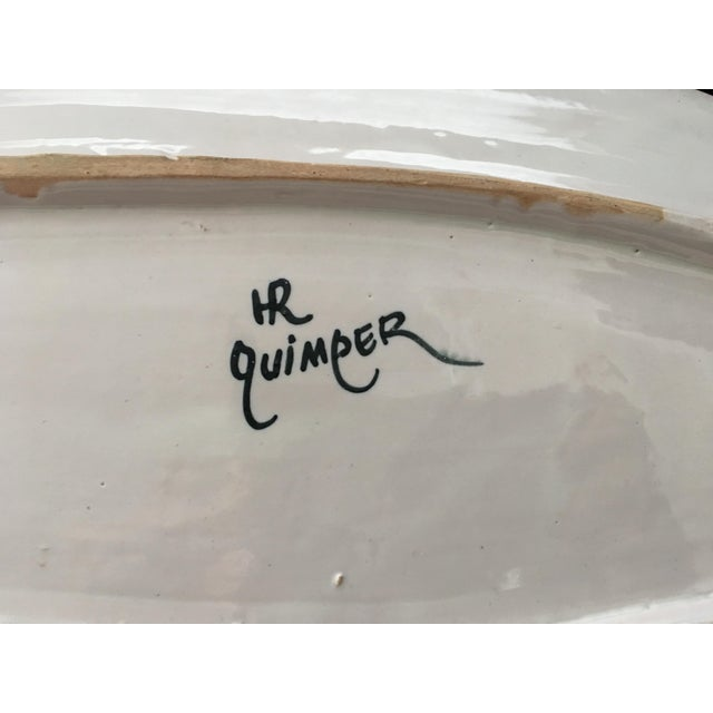 Antique French Provincial Henriot Quimper Faience Platter For Sale In New York - Image 6 of 7