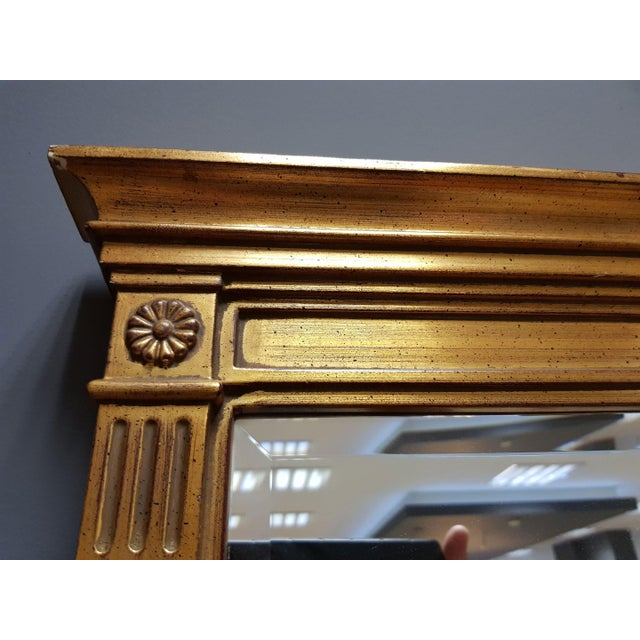 Mid 20th Century Vintage Rectangular Neoclassical Gilded Wall Mirror For Sale - Image 5 of 13