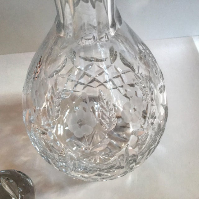Vintage Lead Crystal Wine Decanter For Sale - Image 5 of 6