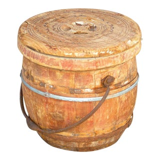Rustic Antique Food Container For Sale