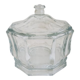 Lidded Bowl Glass Candy Dish For Sale