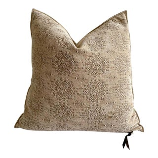Stone Washed Jacquard Pillow For Sale