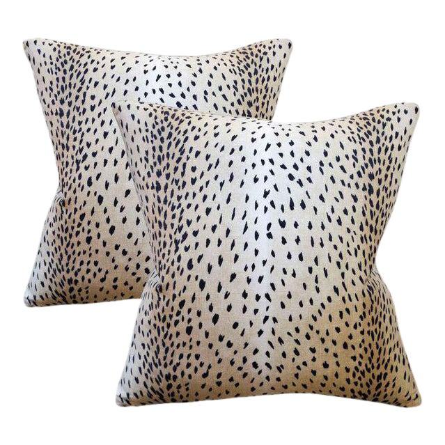 Contemporary New! Doe Linen Down Feather Designer Pillows - Set of 2 ~ Down Feather Inserts Included. For Sale - Image 3 of 3
