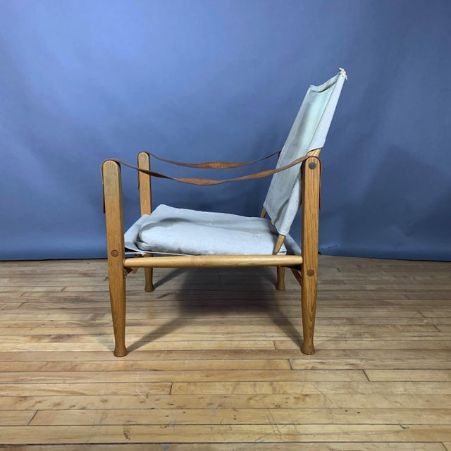 1960s Kaare Klint Safari Chair, Rud Rasmussen, Denmark For Sale - Image 5 of 11