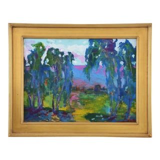"Original Juan ""Pepe"" Guzman Plein Air Landscape Painting For Sale"