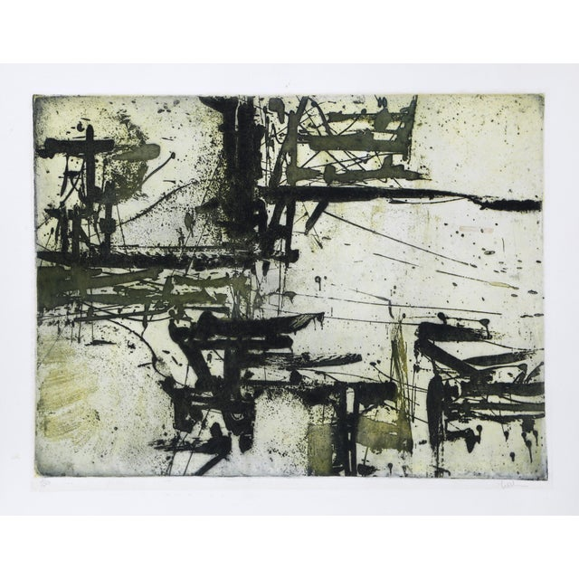 Abstract Expressionist Etching by Harry Hoehn For Sale - Image 4 of 4