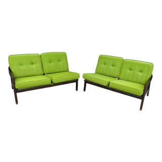 Mid Century Stanley Two Piece Couch For Sale