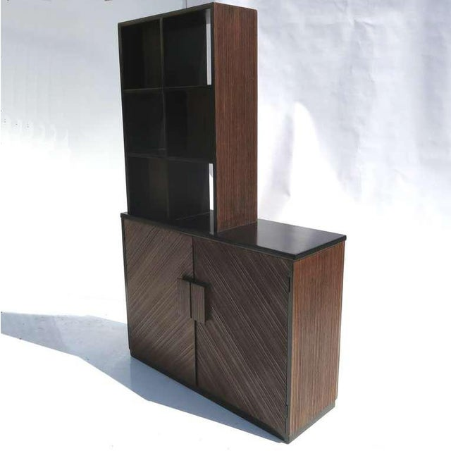 Mid-Century Modern 1950s Paul Frankl Stepped Room Divider Cabinet For Sale - Image 3 of 8