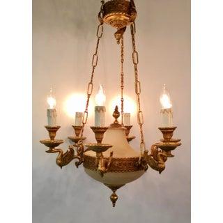 Myran Allen Luxury Lighting Empire Style Bronze Ormolu and Porcelain Chandelier Preview