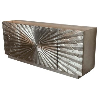 Brutalist Aluminum Wrapped Sideboard, Attributed to Marvin Arenson, 1970s For Sale