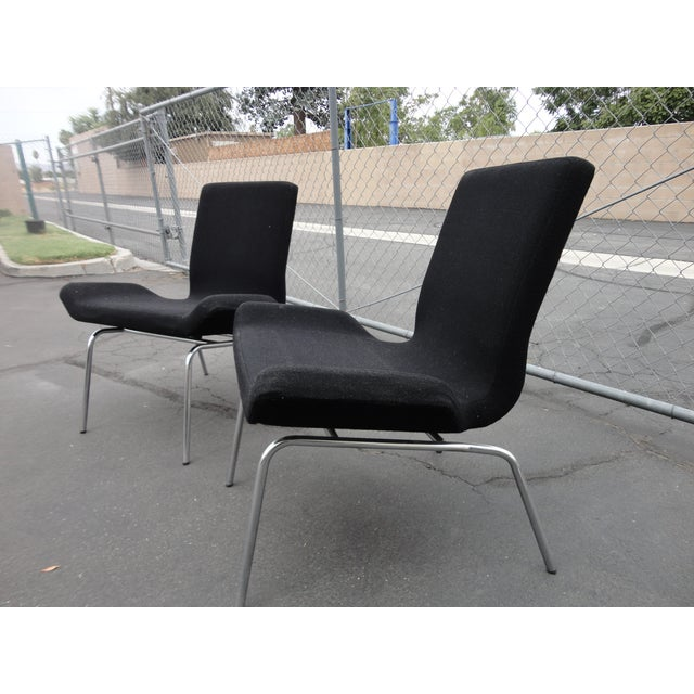 Swedish Modern Bjorn Dahlstrom Cbi Gondola Lounge Chairs - A Pair For Sale - Image 5 of 6