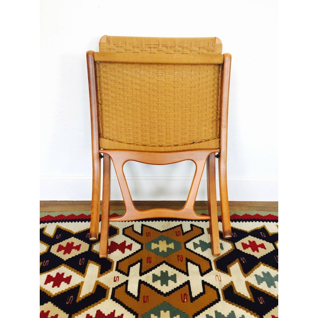 Mid Century Hans Wegner Style Folding Rope Chair For Sale In San Francisco - Image 6 of 8
