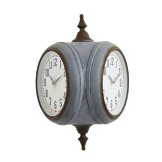 Metal Double Sided Wall Clock For Sale