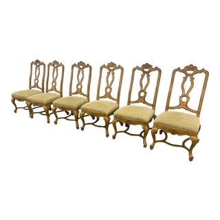 Drexel Heritage Ornate Dining Chairs-Set of 6 For Sale