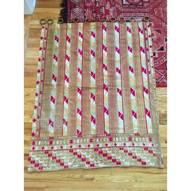 Antique Indian Phulkari Fabric Panels - A Pair - Image 10 of 12